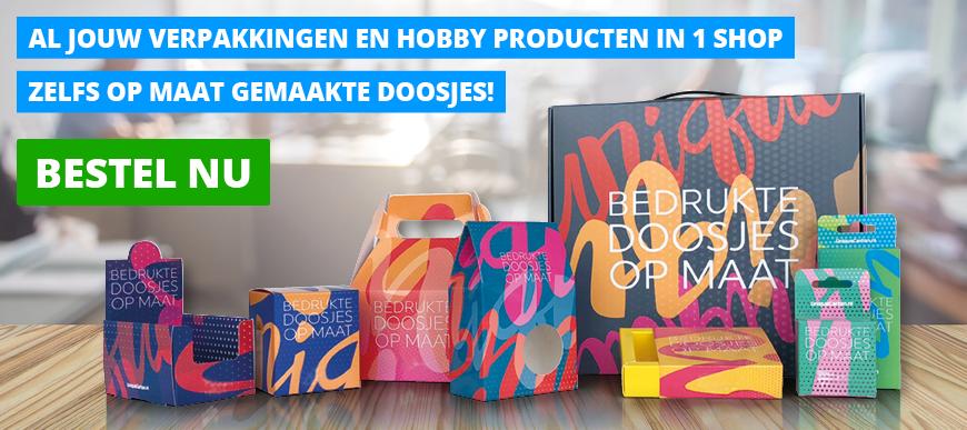 Al jouw verpakkingen en hobby producten in 1 shop